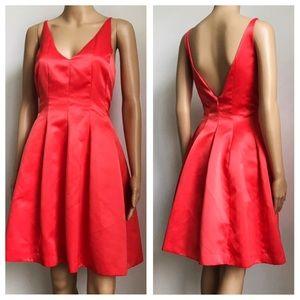 Badgley Mishka Red A line V neck Mini Dress 10